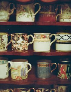 Coffe,tea, vintage teacups and mugs. Be cool with hot stuff. #Detroit #Goodwill