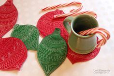 Christmas Coasters, FMQ, Kennedy