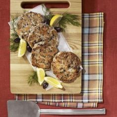 Salmon Cakes with Olives, Lemon & Dill - EatingWell.com
