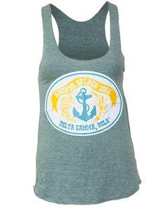 Delta Gamma Anchor Splash Tank. Looks like the Anchor Steam beer label!