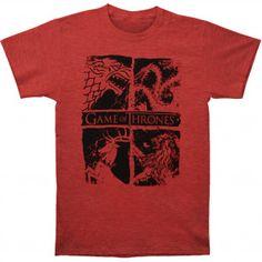 GAME OF THRONES Four House Sigils T-shirt #gameofthrones #got #tshirt #johnsnow #targareyn #stark #lannister #baratheon #season7 #asongoficeandfire #georgerrmartin #rockabilia #tvshow
