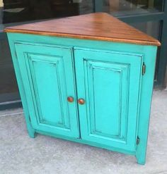 End Piece in Bright Patina Green   General Finishes Design Center