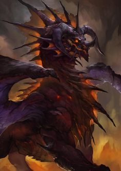 Onyxia Fanart by thiago-almeida on DeviantArt Fantasy Dragon, Fantasy Warrior, Beautiful Fantasy Art, Dark Fantasy Art, Fantasy Creatures, Mythical Creatures, Night Fury Dragon, Warcraft Characters, Mythical Dragons