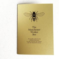 Manchester Worker Bee Card in Metallic Gold by TheManchesterBee