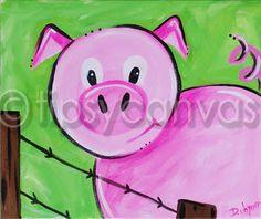 kid's pig painting