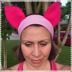 Piglet running headband 3 inches wide by ChickyBands on Etsy https://www.etsy.com/listing/230054557/piglet-running-headband-3-inches-wide