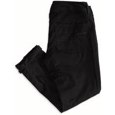 American Eagle Artist Pants (Slacks)Crop Pant ($30) ❤ liked on Polyvore featuring pants, bottoms, jeans, pantalones, slim fit suit pants, low crotch pants, long pants, slim fit pants and black dress pants