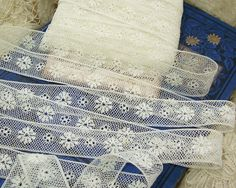 Vintage French Lace, 2 yds...embellishment for crazy quilts, heirloom sewing, scrapbooks, pillows, doll clothes, collage,etc ... 82512-5. $7.00, via Etsy.