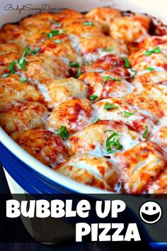 Pull Apart Pizza in Casserole Form! Done in 30 minutes from start to finish - everyone will love this recipe. Pin Pin Pin!!!