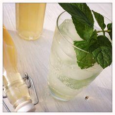 Kardamom-Minz Sirup Glass Of Milk, Pudding, Baking, Drinks, Desserts, Food, Syrup, Lemon, Mint