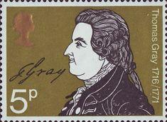 Literary Anniversaries 5p Stamp (1971) Thomas Gray (Death Bicentenary)