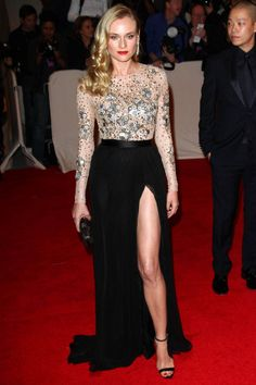 MAY 2011 - Diane Kruger sparkles in a Jason Wu dress, paired with a Jimmy Choo clutch and jewellery from Van Cleef & Arpels.