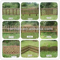 Wooden Garden Picket Fence Panels Screen Fencing Lawn Edging