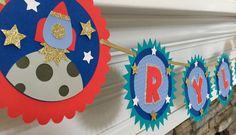 Outerspace party banner by ARTdiCARTA on Etsy