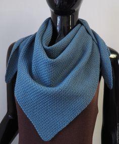 Купить Косынка вязаная из мериноса - косынка вязаная, Аксессуары handmade, бактус, бактус вязаный, шарф