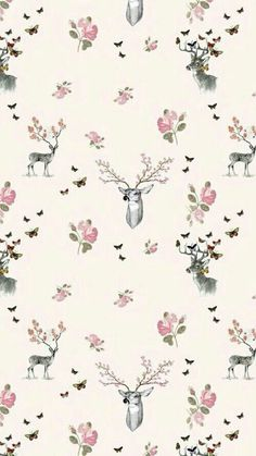 28 ideas christmas wallpaper iphone cute pink for 2019 Hirsch Wallpaper, Deer Wallpaper, Trendy Wallpaper, Flower Wallpaper, Pattern Wallpaper, Cute Wallpapers, Girl Wallpaper, Wallpaper Tumblr Lockscreen, Christmas Wallpaper Iphone Tumblr