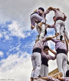 """""""Amunt!"""" by Diana i la lluna, Castellers The Masterpiece, Life Is Short, Small Towns, 18th Century, Barcelona, Horror, Europe, Dreams, Spaces"""