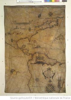 [Carte des côtes de lAmérique du nord, de lAmérique centrale et dune partie de lAmérique du sud] / Ceste Carte A été Faicte Par Jacques de Vaulx Pilote entretenu Pour le Roy en la Maryne au havre, 1584