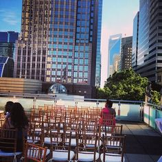 Wedding On A Charlotte Roof Top Over Looking The City Foundation For Carolinas Has