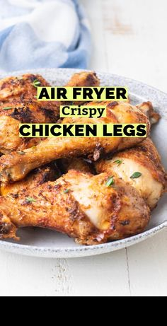 Fried Chicken Legs, Roasted Chicken, Crispy Chicken, Air Fryer Recipes Low Carb, Low Carb Recipes, Cooking Recipes, Air Fryer Chicken Leg Recipe, Air Frier Recipes, Drumstick Recipes