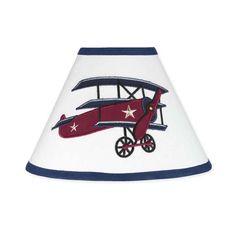 "Sweet Jojo Designs 10"" Vintage Aviator Empire Lamp Shade & Reviews | Wayfair"