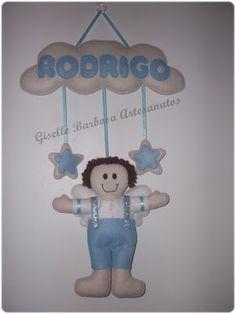 Giselle Barbosa Artesanatos: Guirlanda infantil em feltro