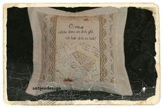 Decken & Kissen - Vintage Kissen - Shabby Chic für d. liebste OMA - ein Designerstück von antjesdesign bei DaWanda