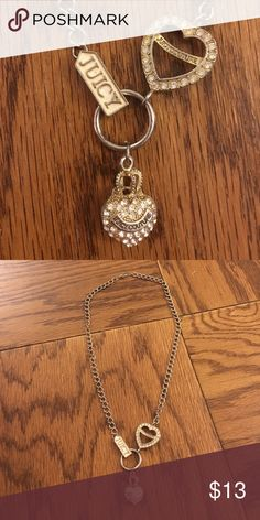Juicy Couture costume jewelry Juicy Couture costume jewelry.  Some fading of the gold on the chain but can't notice unless you are up close inspecting it.  This was one of my favorite necklaces in college to wear with my Juicy Couture track suits 😂 Juicy Couture Jewelry Necklaces