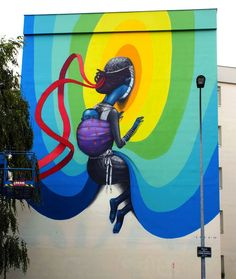 Seth Globe painter's Murals of Children Immersed in Colorful Galaxies - My Modern Met♥★♥