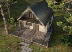 Projekt domu DL-1 46,62 m² - koszt budowy - EXTRADOM Home Fashion, Shed, Outdoor Structures, Cabin, House Styles, Home Decor, Homemade Home Decor, Backyard Sheds, Sheds