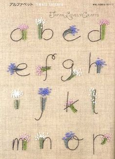 Stitch Sampler Patterns - Japanese Hand Embroidery Designs, Alphabet, Floral…
