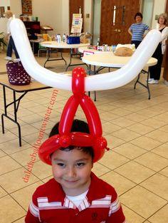 Balloon Hat with Horns. Ken Stillman hat base.