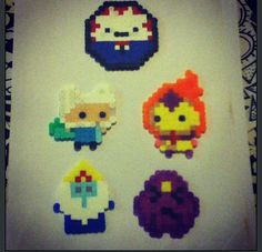 adventure time charm perler bead
