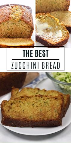 The Best Zucchini Bread for breakfast, brunch, snacks, and even as a side dish! This quick and easy Easy Zucchini Bread, Zucchini Bread Recipes, Banana Bread Recipes, Pumpkin Recipes, Zucchini Bread Recipe Ina Garten, Zucchini Bread With Pineapple, Zucchini Bread Muffins, Zuchinni Bread, Baking Recipes