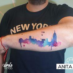 City Watercolor #citytattoo #watercolortattoo #colortatto #ciudad #tatuaje #iristattoo #buenosaires #argentina #palermo