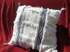 Traditional Moroccan Berber Cushion Cover 100%Wool Wedding Blanket