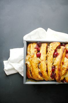 Caramelized Cranberry & Brie Pull-Apart Bread. Want to try this and substitute orange infused EVOO for the butter.