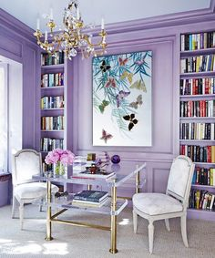 Wall Paint Colors, Room Colors, House Colors, Lavender Living Rooms, Lavender Room, Lilac Walls, Purple Rooms, Interior Decorating, Interior Design