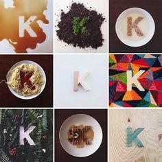 Typology of the letter K from kimberleane. aka Instagrammer penelopelane