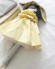 I love all of her elements, the hint of vintage in her bonnet, the yellow, polka dots and ALL THAT TULLE. She will be listed in approx 50 mins xx