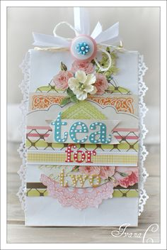 ~Tea For Two~ NEW Webster's Pages - Scrapbook.com