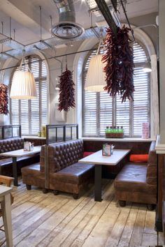 tuck away booths. #restaurant #furniture                                                                                                                                                     More