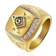 [US$14.99] Vintage Gold Titanium Steel Finger Ring Rhinestone Jewelry #vintage #gold #titanium #steel #finger #ring #rhinestone #jewelry