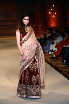 Attractive Deep Red Velvet Ramp Bridal Lehenga buy it now at andaazcollectionscanada Pakistani Bridal Wear, Pakistani Dresses, Indian Bridal, Indian Dresses, Indian Outfits, Bridal Lehenga, India Fashion, Asian Fashion, Japanese Fashion