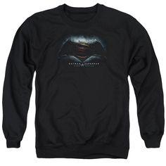 Batman V Superman Movie Logo Mens Crewneck Sweatshirt