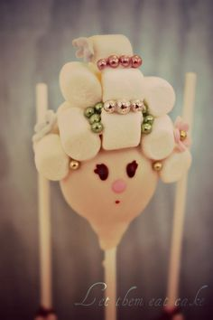 "Adorable Marie Antoinette Cake Pop by ""Evie and Mallow"""