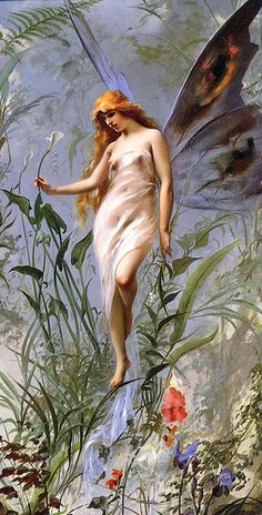 "Luis Ricardo Falero (1851-1896), ""The Lily Fairy&quot… 