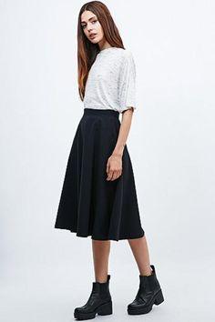Light Before Dark Midi Skirt in Black #midiskirt #women #covetme #lightbeforedark