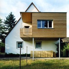 Ideas for a house cultivation: Extension of a semi-detached house as bird's nest - Ideen Erweiterung - Anbau Semi Detached, Detached House, Style At Home, Steel Framing, Roof Extension, Prefabricated Houses, Small Loft, House Extensions, Flat Roof