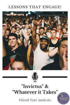 """High school teachers, your English language arts lesson planning just got easier! Pair the beloved """"Invictus"""" by William Ernest Henley with """"Whatever it Takes"""" by Imagine Dragons in this highly-engaging three-lesson sequence that targets CCSS standards f Poetry Lesson Plans, Poetry Lessons, Instructional Strategies, Teaching Strategies, English Language, Language Arts, Ccss Standards, Poem Analysis, Academic Writing"""